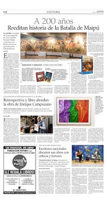 Le Bicentenaire de Maipú dans les page de El Mercurio [Bicentenaire]