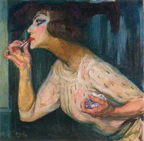 Le rouge à lèvres,1908