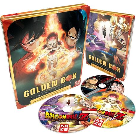 Une golden box Blu-ray et DVD contenant films et OAV pour Dragon Ball Z chez Kazé