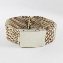 gros bracelet or blanc 14k