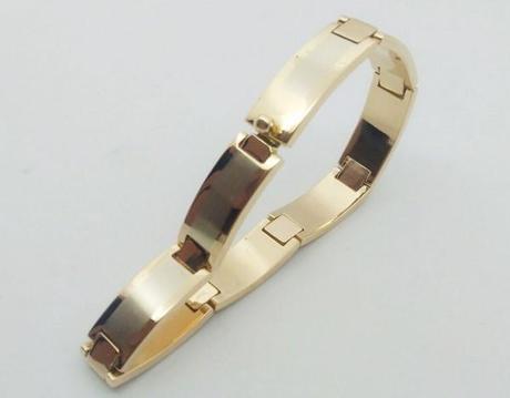 gros bracelet or pour homme