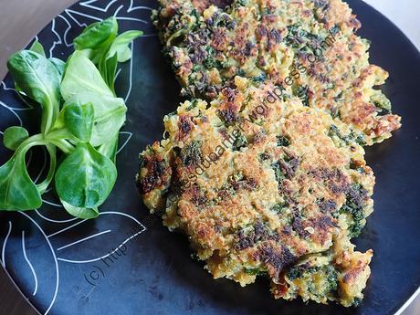 Galettes au Quinoa et Chou frisé / Quinoa and Kale Patties