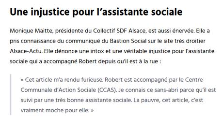 Où le #BastionSocial de #Strasbourg se fout de la gueule des pauvres #Fakenews