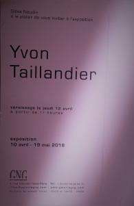 Galerie G N G   exposition YVON TAILLANDIER  10 Avril au 19 Mai 2018