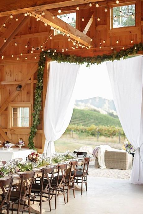 style rustique mariage champetre chic grange mariage montagne wedding