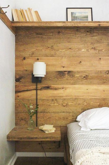 style rustique bois tete de lit champetre campagne