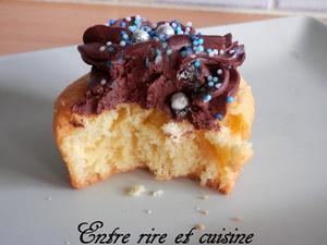Cupcakes avec topping léger