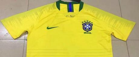 Le maillot officiel de l'équipe du Brésil pour la coupe du monde de football 2018