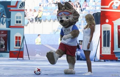 mascotte coupe du monde de football 2018 un loup Zabivaka