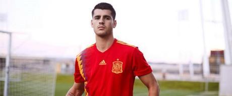 Le maillot officiel de l'équipe d'Espagne pour la coupe du monde de football 2018