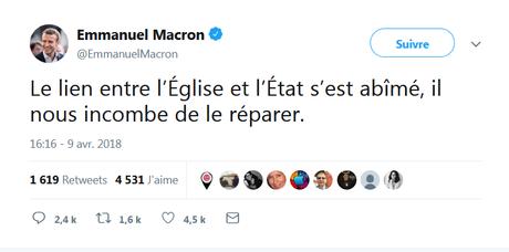 Après les autocars-Macron, les églises-Macron