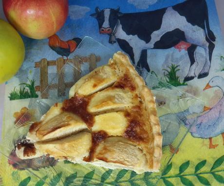 tarte aux pommes a la creme