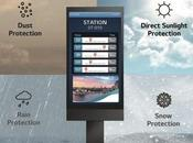 écrans extérieurs sous caisson solution d'affichage pour toutes situations
