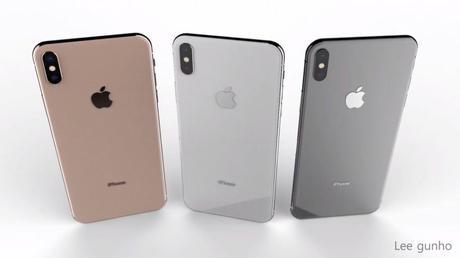 Concept : un iPhone X Plus dual SIM en 3 coloris, dont l'or