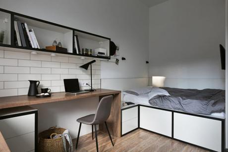 L'aménagement d'un studio d'étudiant de 17m²