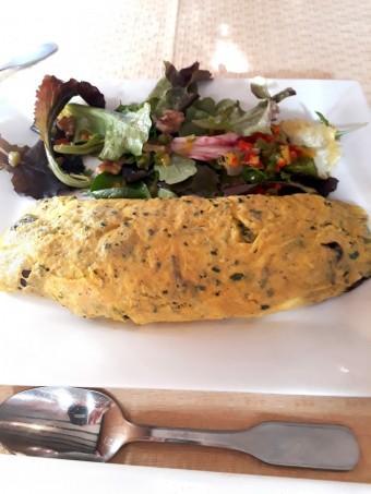 Omelette aux cèpes © Gourmets&co