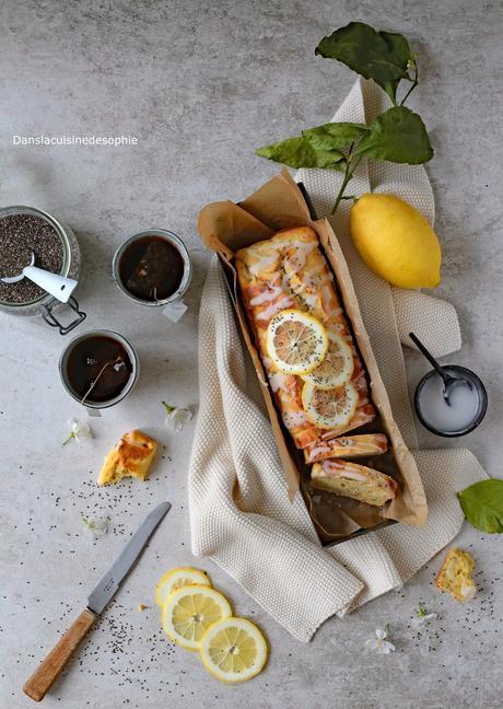Cake à la ricotta, citron et graines de chia