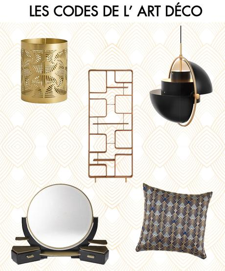 Accessoires et mobilier revisités de style Art Déco