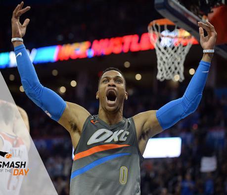 Russell Westbrook s'offre une deuxième saison consécutive en triple-double de moyenne