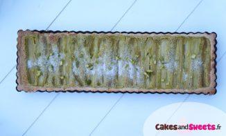 Tarte Rhubarbe Pistache