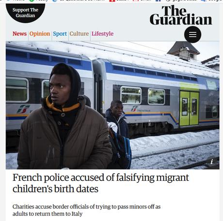 la Police Française falsifie des documents pour renvoyer des enfants en Italie #Immigration