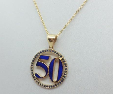 pendentif or lapis lazuli