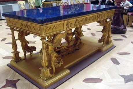 table lapis lazuli musée de l'Hermitage