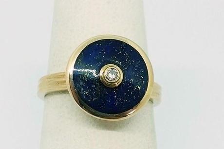 bague or lapis lazuli