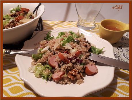 Salade de Quinoa, Noix et Saucisses