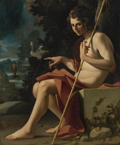 bartolomeo-schedoni-st.-john-the-baptist-in-a-landscape coll privee