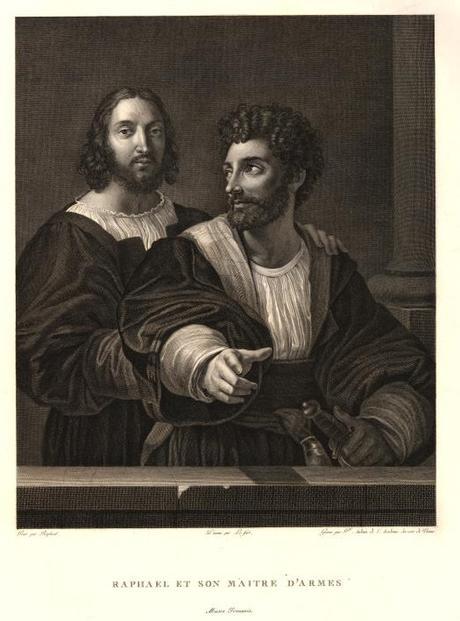 Raphael et son maitre d'armes gravure de Audoin, dessin de le Fort1806