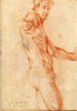 Autoportrait Pontormo 1522-1525 British Museum