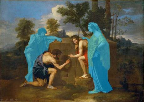 1599px-Nicolas_Poussin_-_Et_in_Arcadia_ego_(deuxième_version) schema