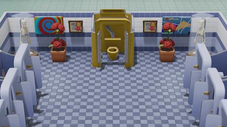 two point hospital toilette en or