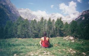 meditation à la montagne