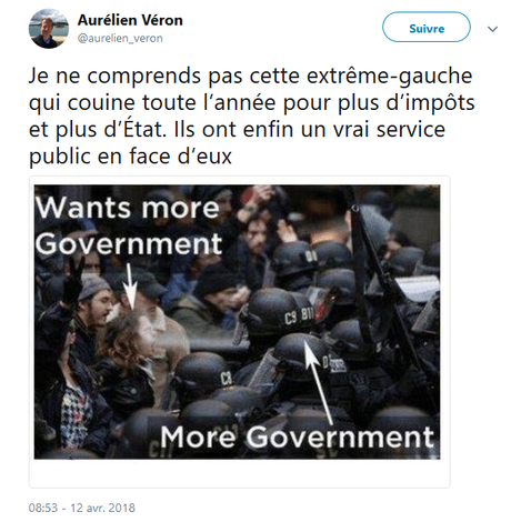 Le « Président » du Parti Libéral « démocrate »français relaie les alt-rights (la fachosphère américaine).