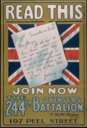 WWI Canada lettre