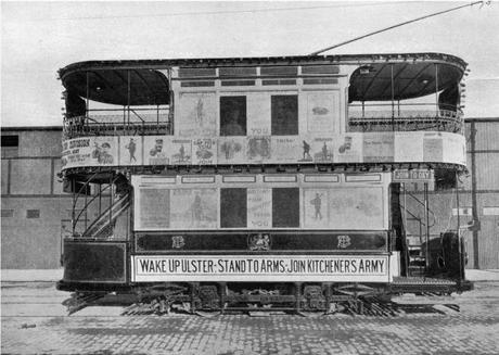 Ulster-recruiting-tram-Belfast-1914