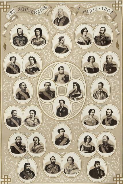 Les souverains à Paris, une estampe française de 1867