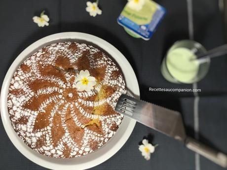 Gâteau à la crème Danette pistache au companion thermomix ou sans robot