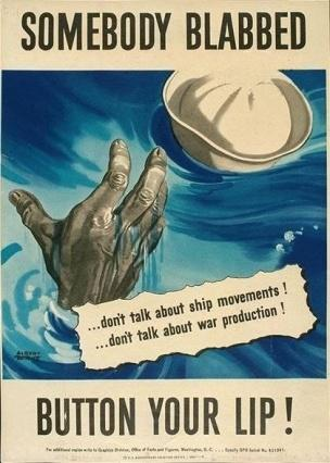 WW2 USA 1942 Somebody blabbed Albert Dorne
