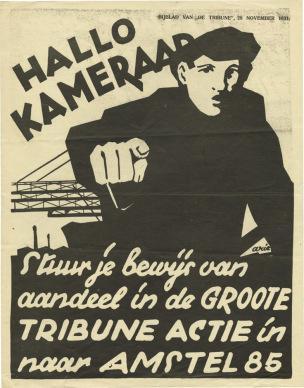 Pays-Bas 1931 28 11 Camarade Envoie ton bulletin de participation a GROOTE TRIBUNE ACTIE Communistische Partij Holland