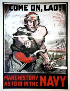 WW2 USA Come on lad affiche de Julius Cozzy Gottsdanker