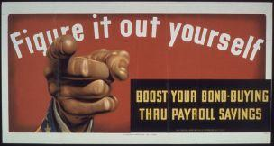 WW2 USA 1941-45 Figure_it_out_Yourself_-_Boost_your_Bond_Buying_thru_Payroll_Savings