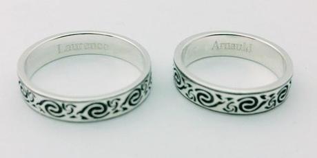 gravure alliances de mariage celtiques