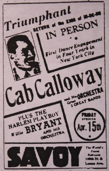April 15, 1938: Cab Calloway is back at the Savoy