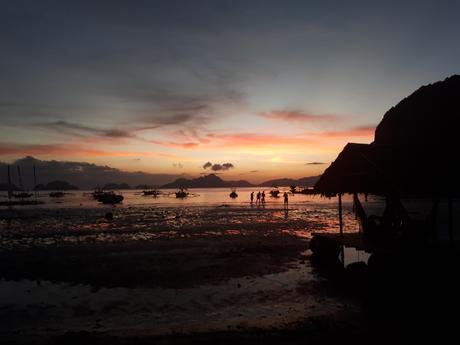 Coucher de soleil à Corong Corong aux Philippines