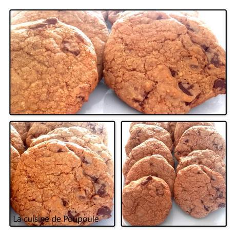 Cookies Corse à la farine de châtaigne et chocolat praliné au thermomix ou sans