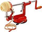 Uten Éplucheur de Pomme de terre Manuel Pèle Pommes Professionnel Multifonction 3 en 1 pour Éplucher Trancher et Évider Pommes de Terre Fruits Épluche-Pommes avec Fixation Ventouse