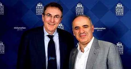 Philippe Dornbusch et le charismatique champion du monde d'échecs Garry Kasparov - Photo  © Chess & Strategy